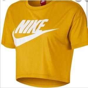 Nike Yellow Cropped Icon Tshirt